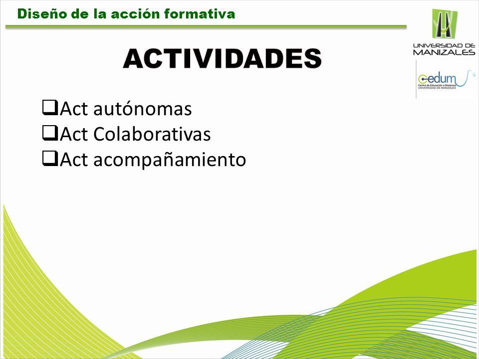 ACTIVIDADES Act autónomas Act Colaborativas Act acompañamiento