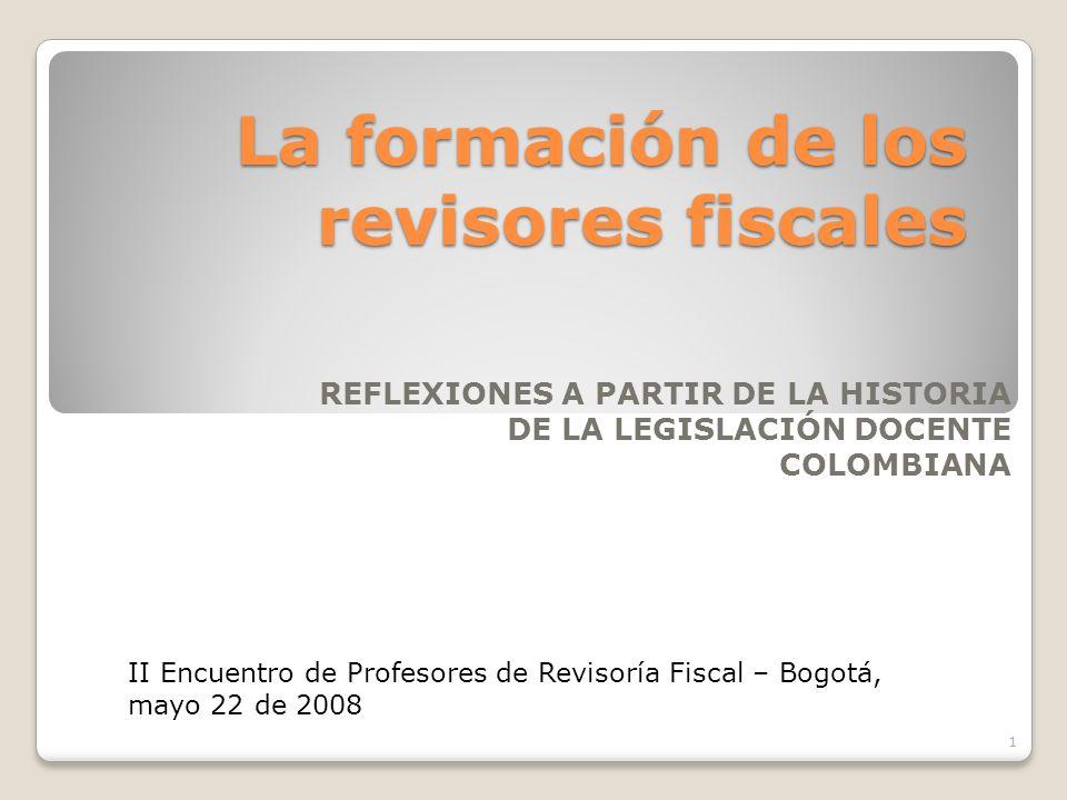 La formación de los revisores fiscales