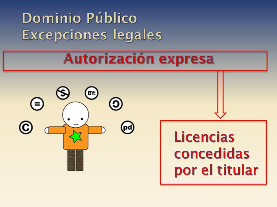 Dominio Público Excepciones legales