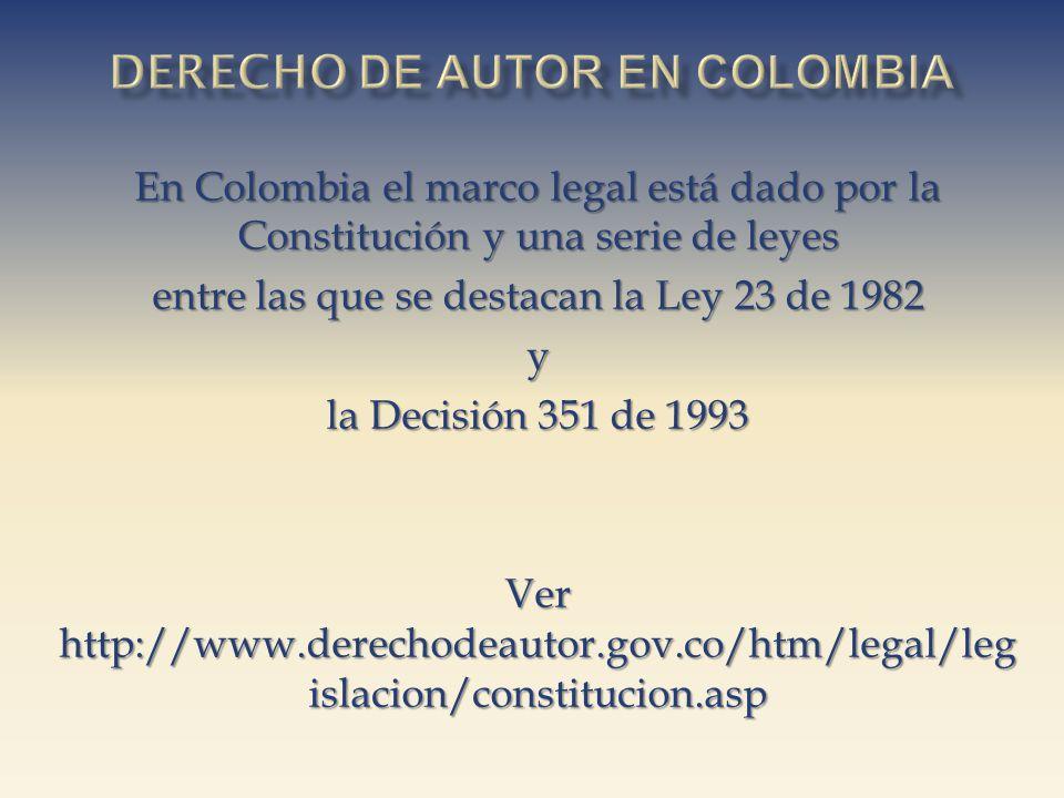 Derecho de autor EN cOLOMBIA