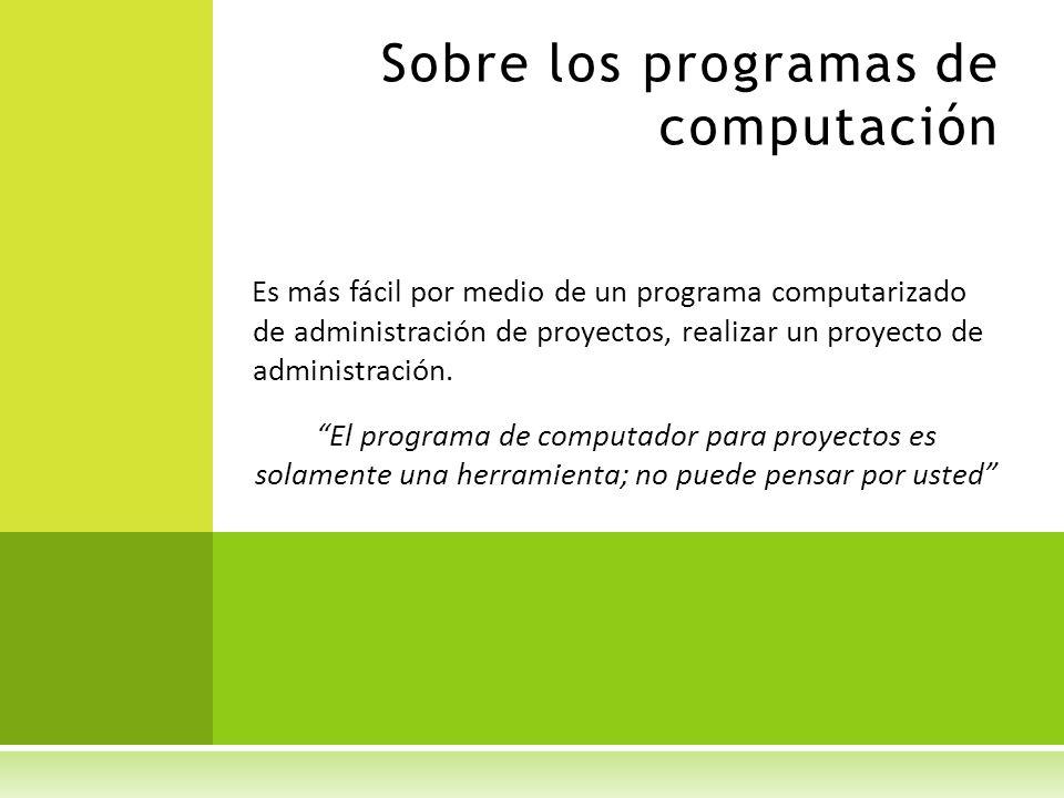 Sobre los programas de computación