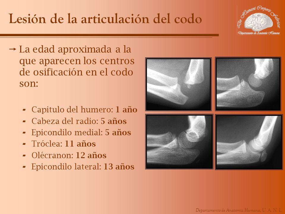 Lesión de la articulación del codo