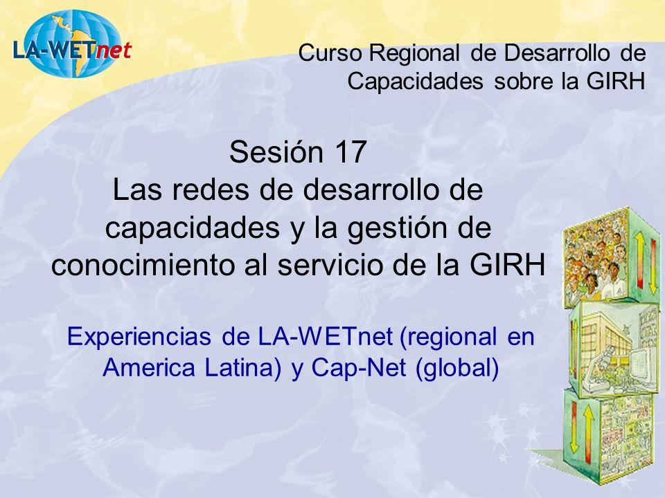 Curso Regional de Desarrollo de Capacidades sobre la GIRH