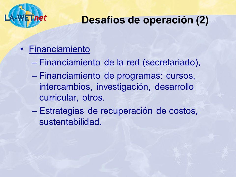 Desafíos de operación (2)