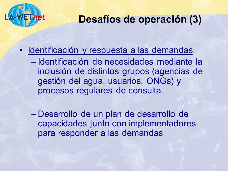 Desafíos de operación (3)