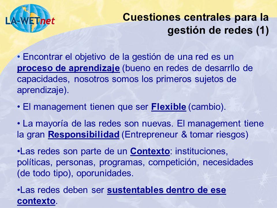 Cuestiones centrales para la gestión de redes (1)