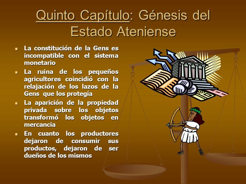 Quinto Capítulo: Génesis del Estado Ateniense