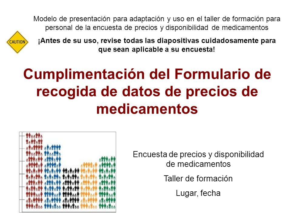 Encuesta de precios y disponibilidad de medicamentos