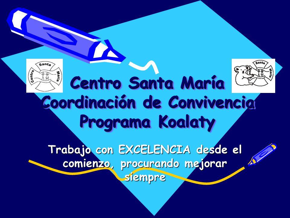 Centro Santa María Coordinación de Convivencia Programa Koalaty