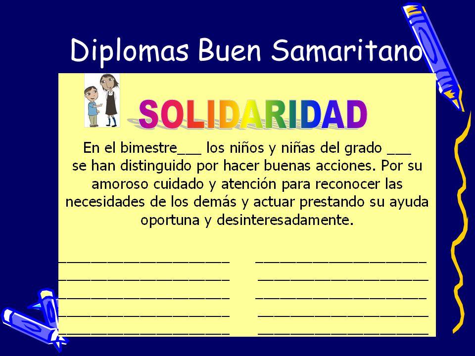 Diplomas Buen Samaritano