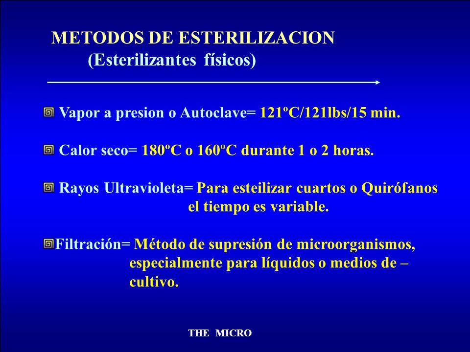 METODOS DE ESTERILIZACION (Esterilizantes físicos)