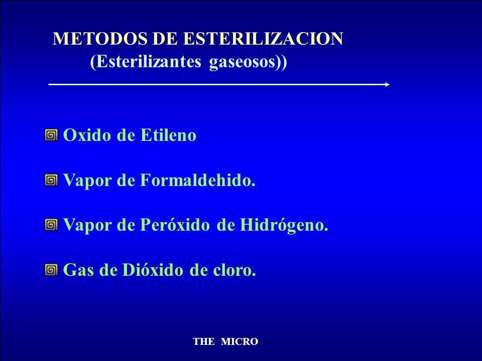 METODOS DE ESTERILIZACION (Esterilizantes gaseosos))