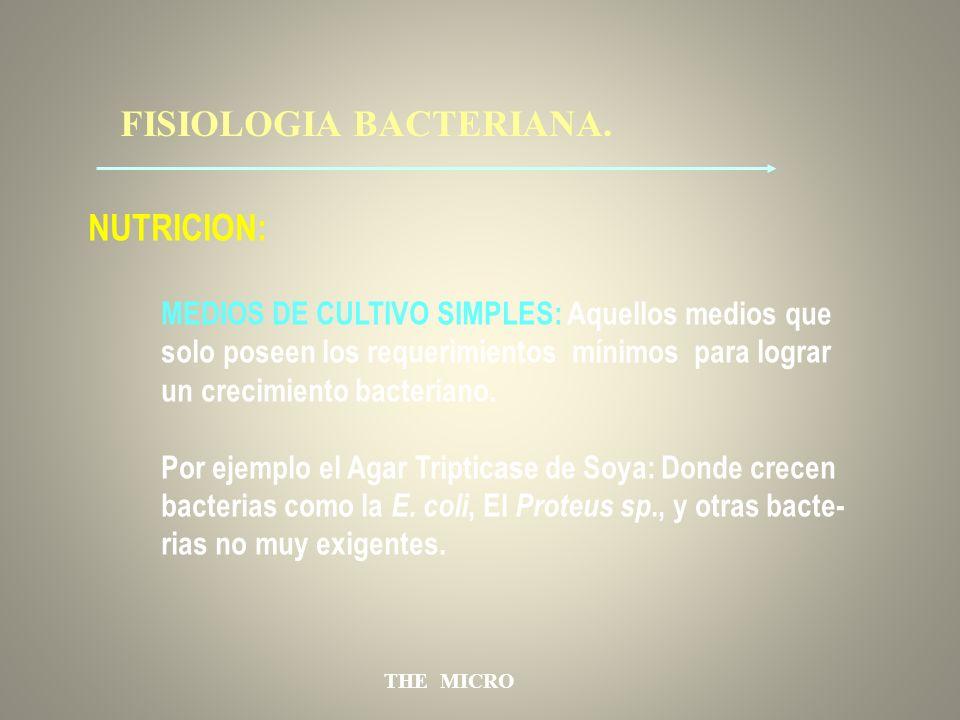 FISIOLOGIA BACTERIANA.