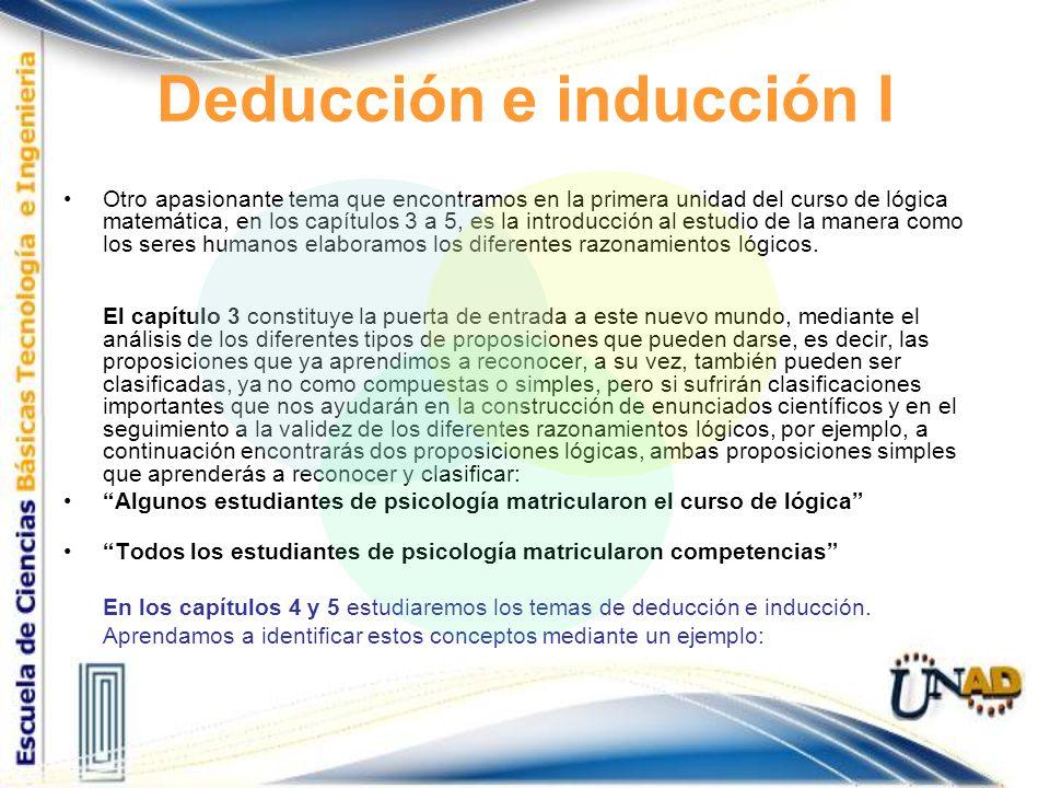 Deducción e inducción I