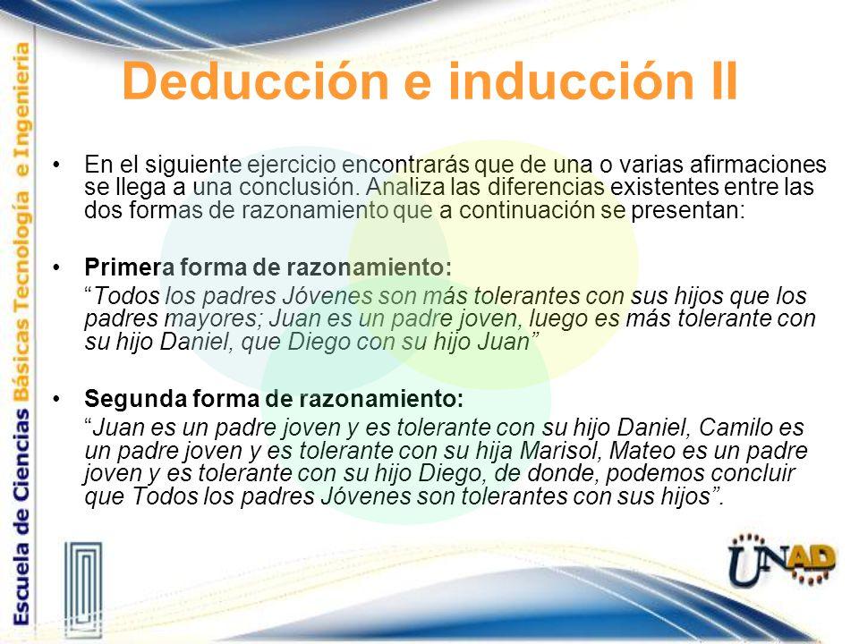 Deducción e inducción II