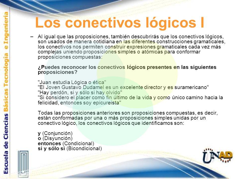 Los conectivos lógicos I