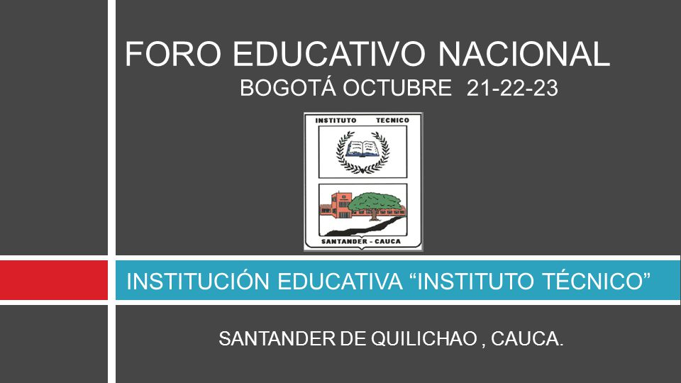 INSTITUCIÓN EDUCATIVA INSTITUTO TÉCNICO
