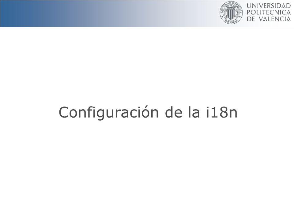 Configuración de la i18n
