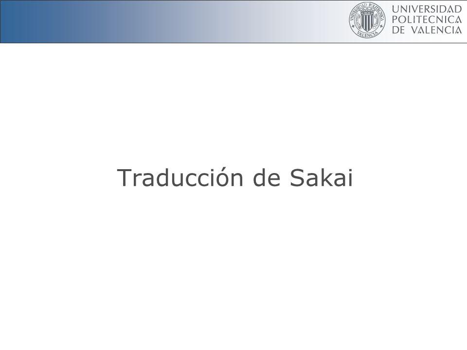Traducción de Sakai