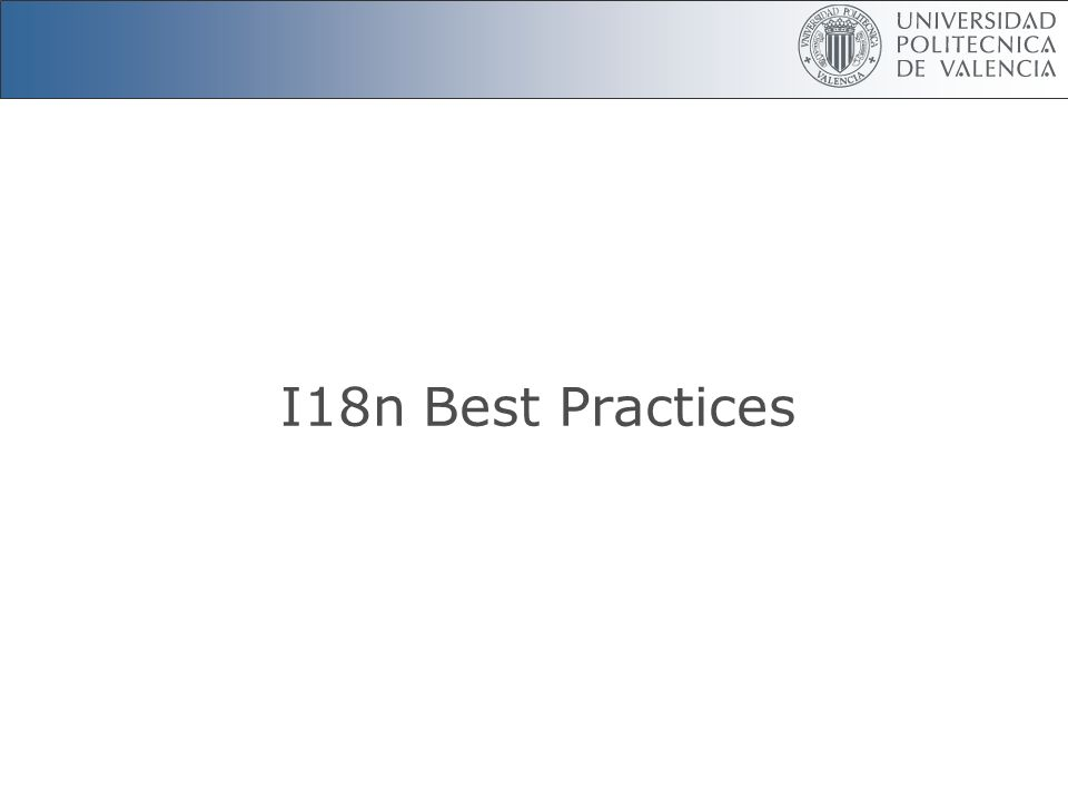 I18n Best Practices