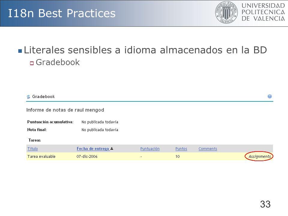 I18n Best Practices Literales sensibles a idioma almacenados en la BD