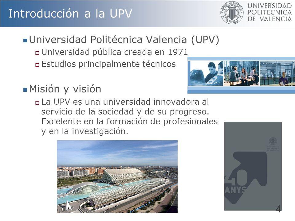 Introducción a la UPV Universidad Politécnica Valencia (UPV)