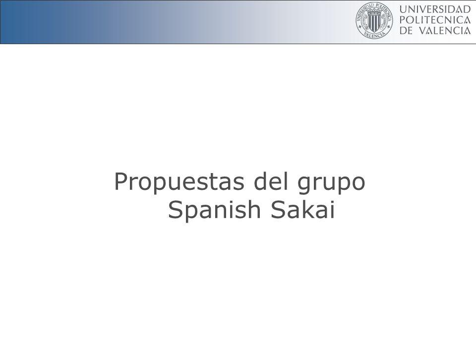 Propuestas del grupo Spanish Sakai