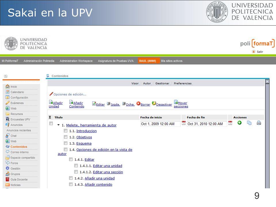 Sakai en la UPV