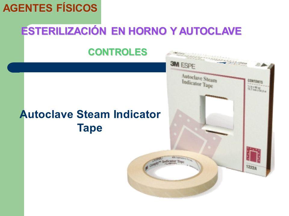 ESTERILIZACIÓN EN HORNO Y AUTOCLAVE Autoclave Steam Indicator Tape
