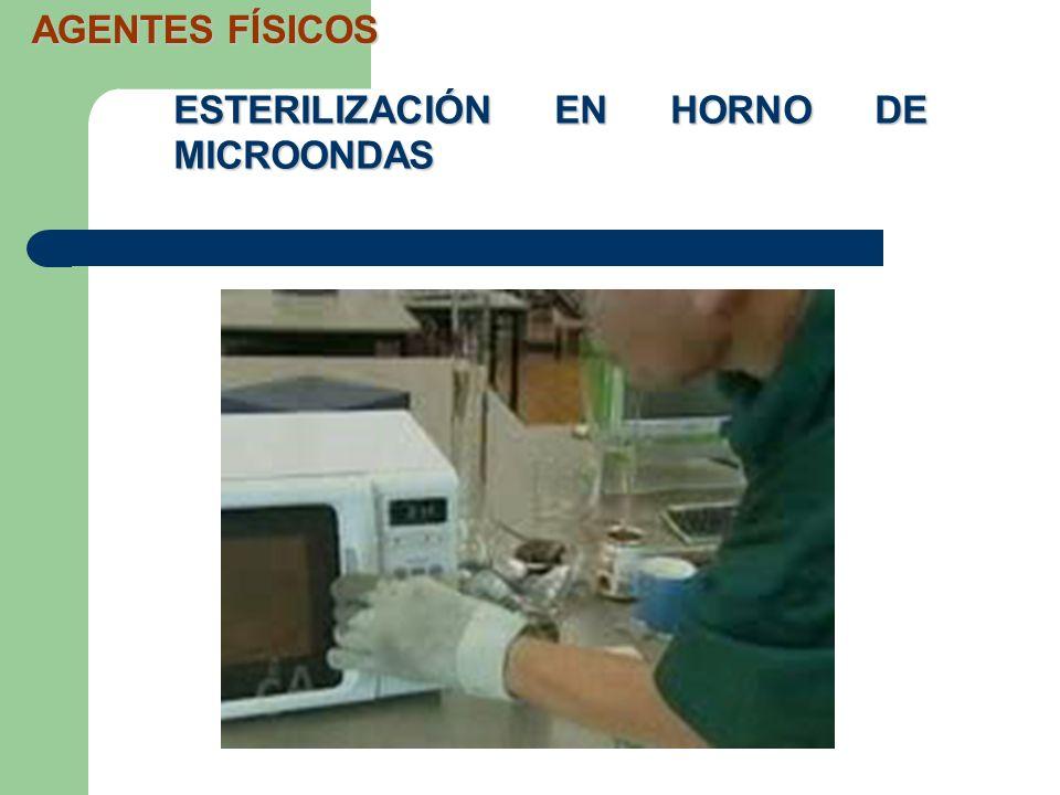 AGENTES FÍSICOS ESTERILIZACIÓN EN HORNO DE MICROONDAS