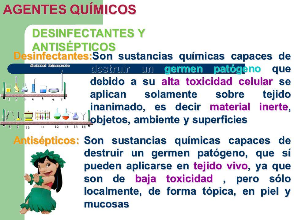 AGENTES QUÍMICOS DESINFECTANTES Y ANTISÉPTICOS