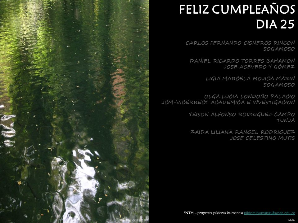 FELIZ CUMPLEAÑOS DIA 25 CARLOS FERNANDO CISNEROS RINCON SOGAMOSO