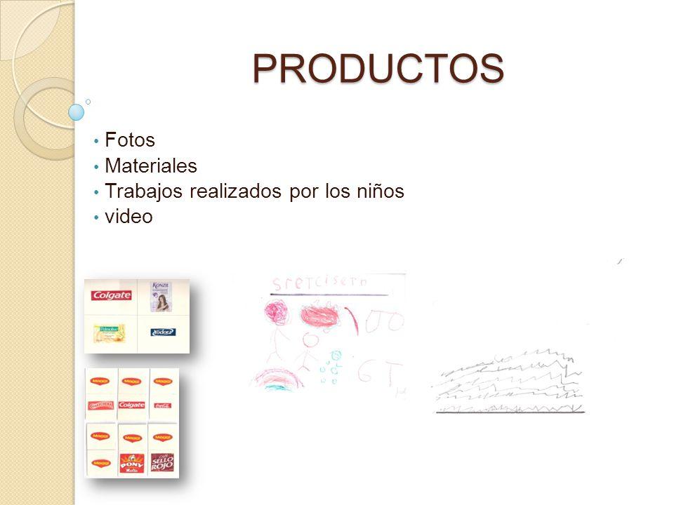 Fotos Materiales Trabajos realizados por los niños video