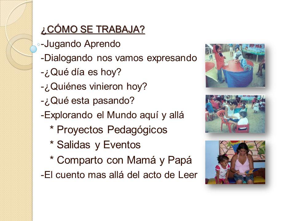 * Proyectos Pedagógicos * Salidas y Eventos * Comparto con Mamá y Papá