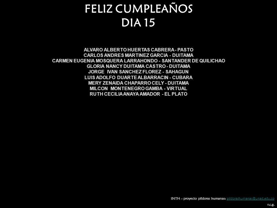 FELIZ CUMPLEAÑOS DIA 15 ALVARO ALBERTO HUERTAS CABRERA - PASTO