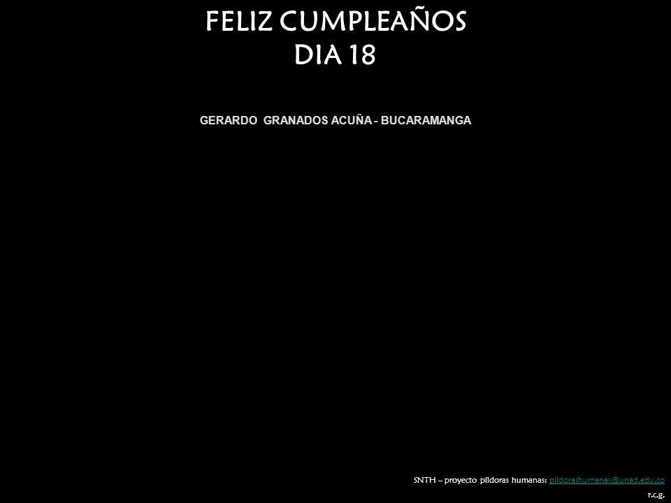 GERARDO GRANADOS ACUÑA - BUCARAMANGA