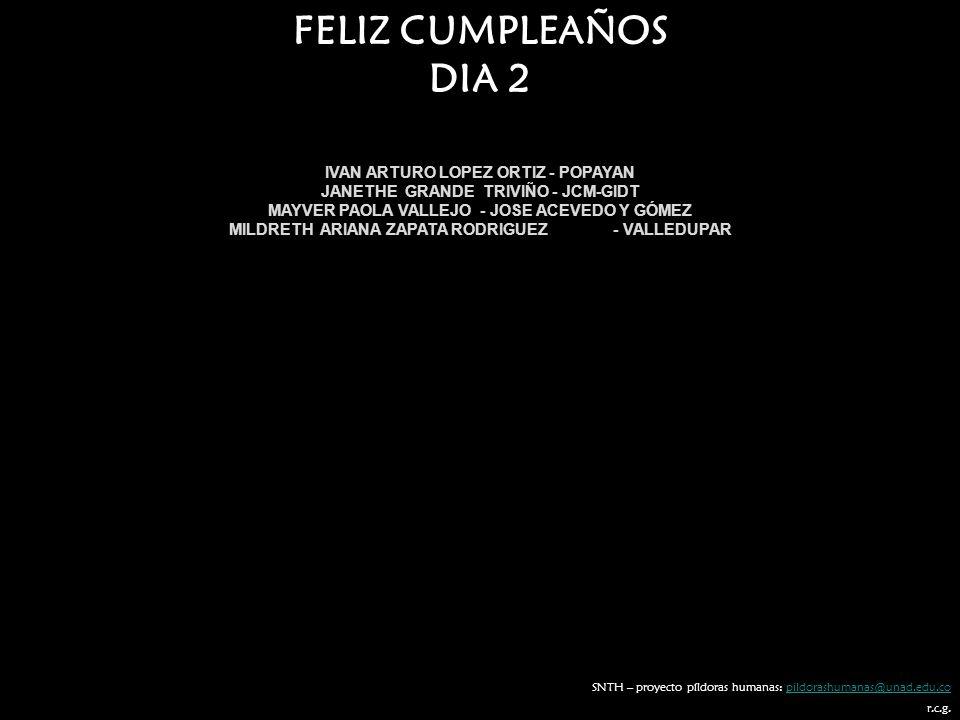 FELIZ CUMPLEAÑOS DIA 2 IVAN ARTURO LOPEZ ORTIZ - POPAYAN
