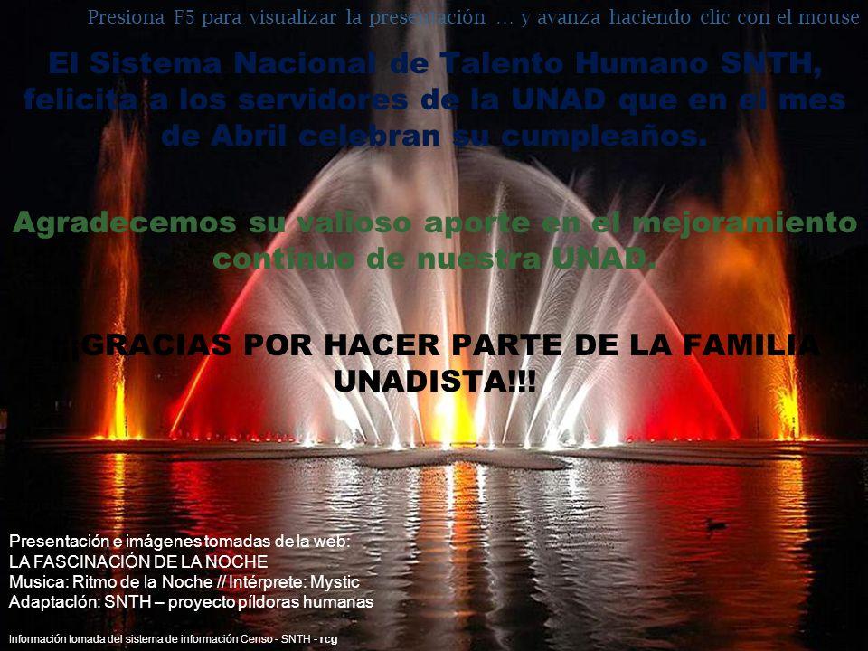 ¡¡¡GRACIAS POR HACER PARTE DE LA FAMILIA UNADISTA!!!