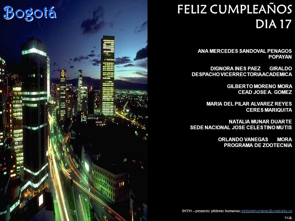 Bogotá FELIZ CUMPLEAÑOS DIA 17 ANA MERCEDES SANDOVAL PENAGOS POPAYAN