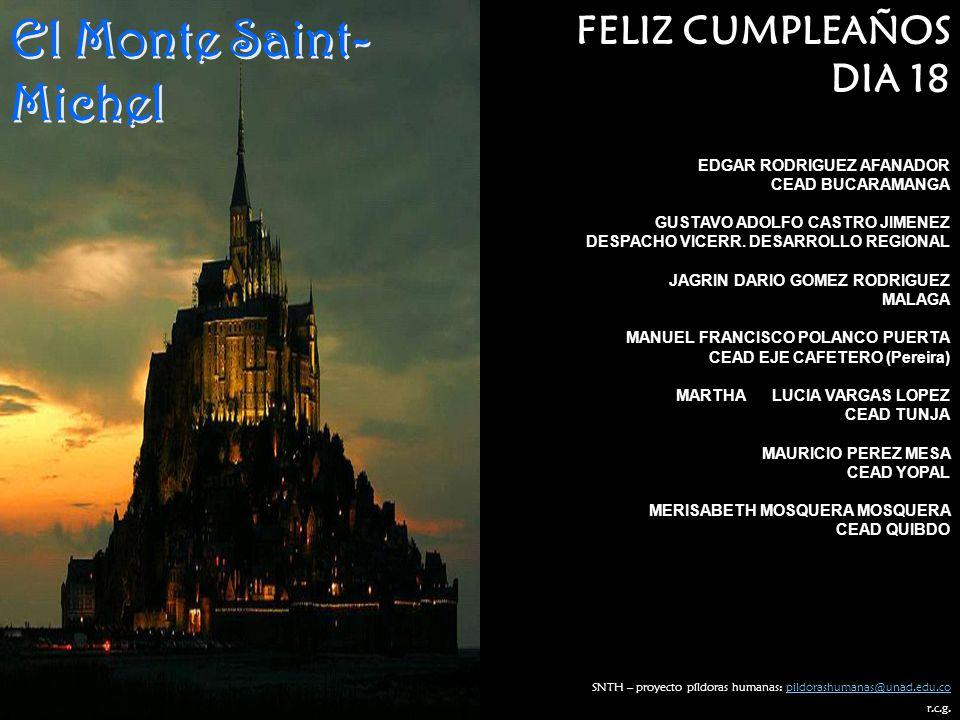 El Monte Saint-Michel FELIZ CUMPLEAÑOS DIA 18 EDGAR RODRIGUEZ AFANADOR