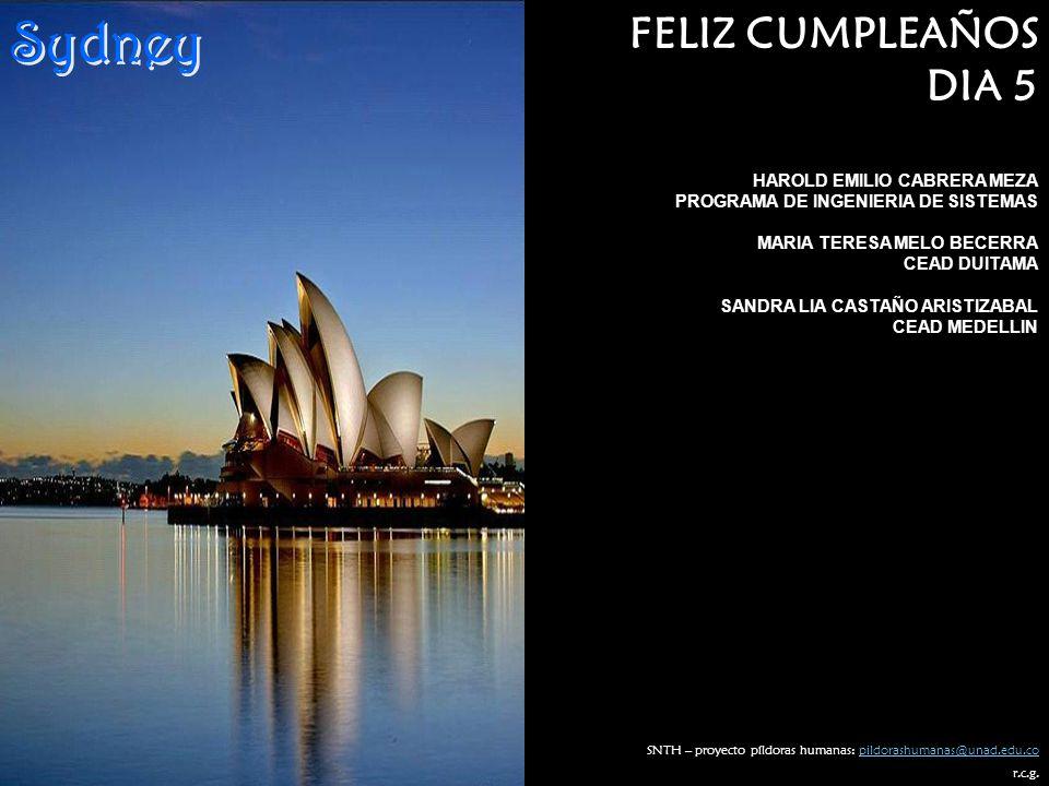 Sydney FELIZ CUMPLEAÑOS DIA 5 HAROLD EMILIO CABRERA MEZA