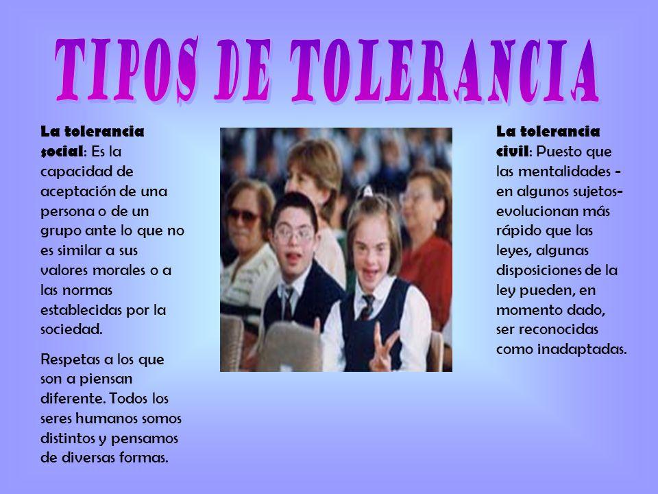 tipos de tolerancia
