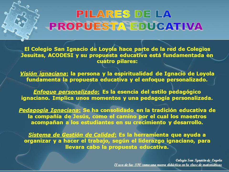PILARES DE LA PROPUESTA EDUCATIVA