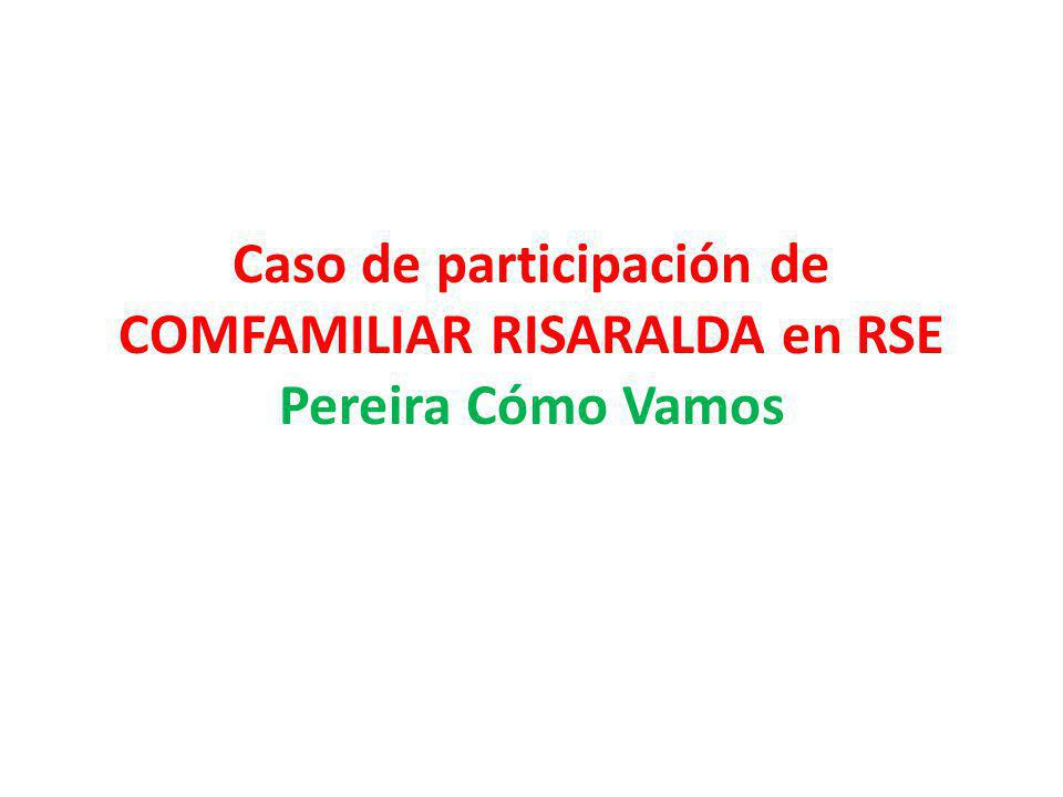 Caso de participación de COMFAMILIAR RISARALDA en RSE Pereira Cómo Vamos