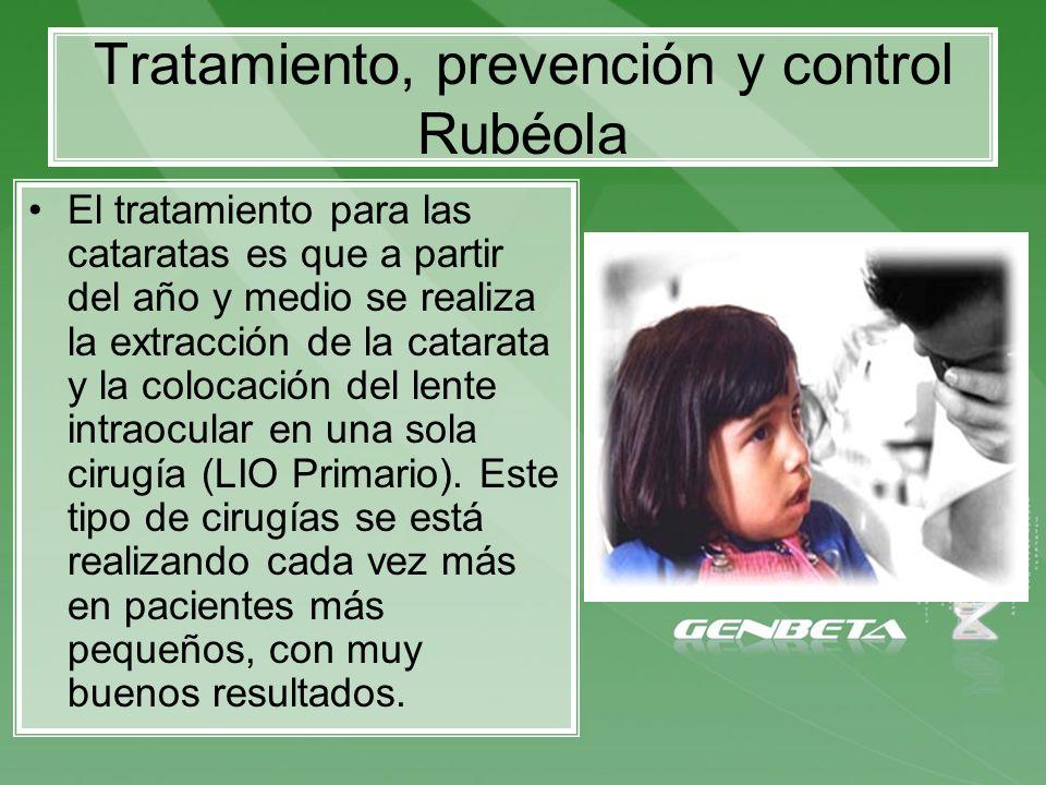 Tratamiento, prevención y control Rubéola