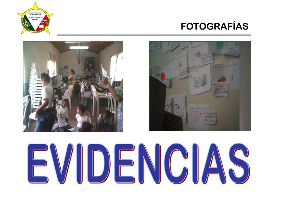 EVIDENCIAS FOTOGRAFÍAS
