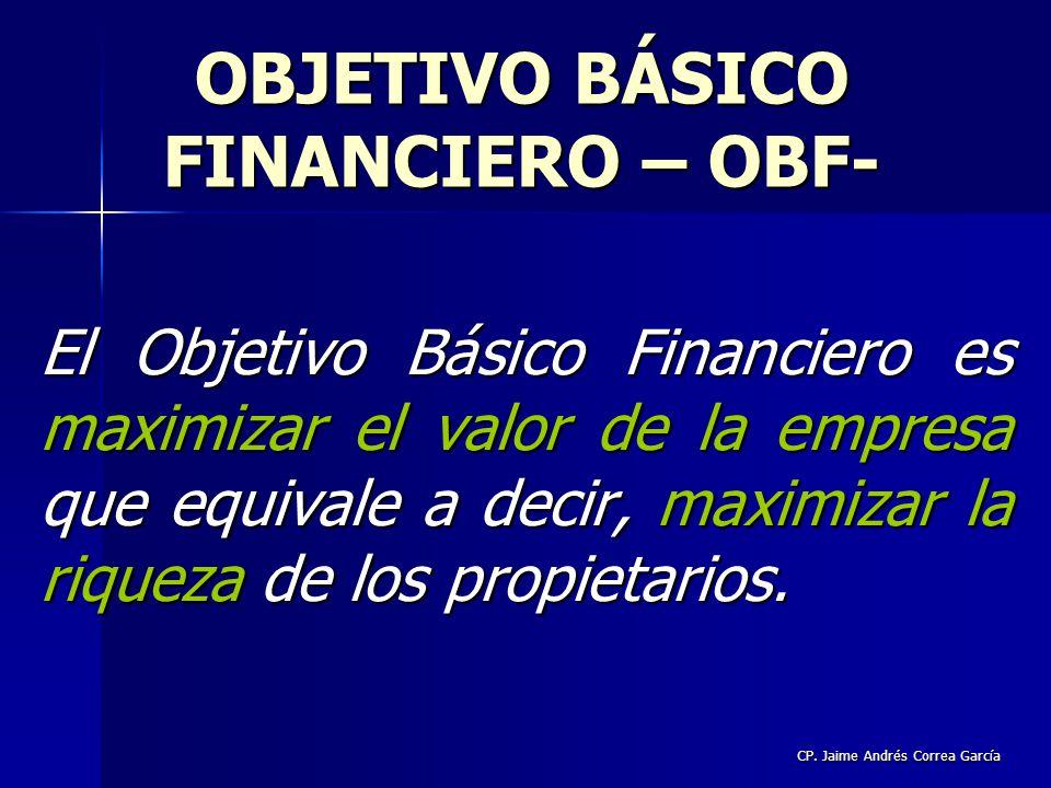 OBJETIVO BÁSICO FINANCIERO – OBF-