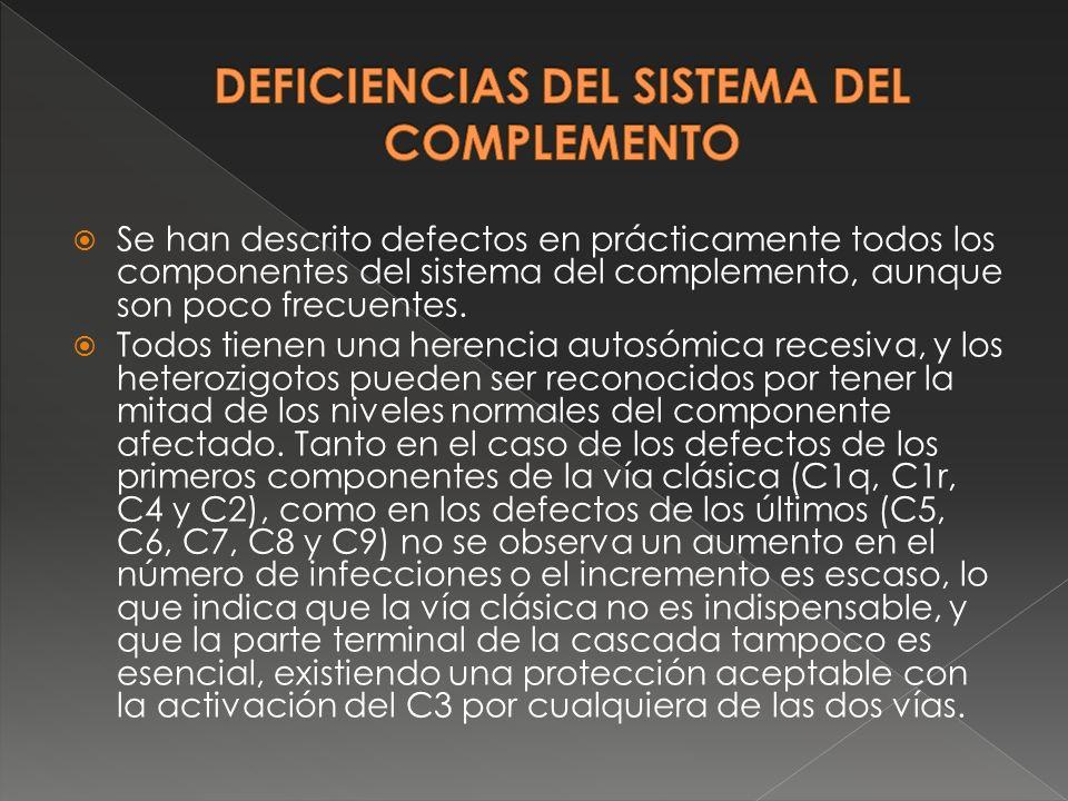 DEFICIENCIAS DEL SISTEMA DEL COMPLEMENTO