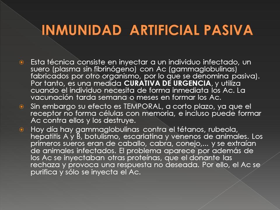 INMUNIDAD ARTIFICIAL PASIVA