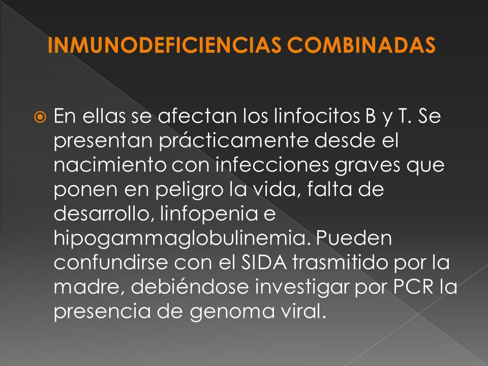 INMUNODEFICIENCIAS COMBINADAS
